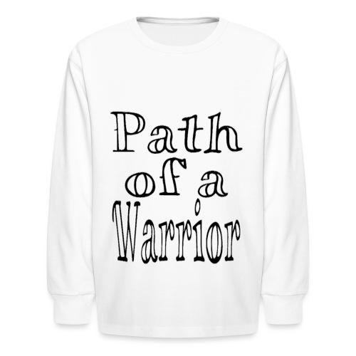 Path of a Warrior (White) - Kids' Long Sleeve T-Shirt