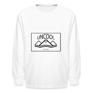 uncool_bw - Kids' Long Sleeve T-Shirt