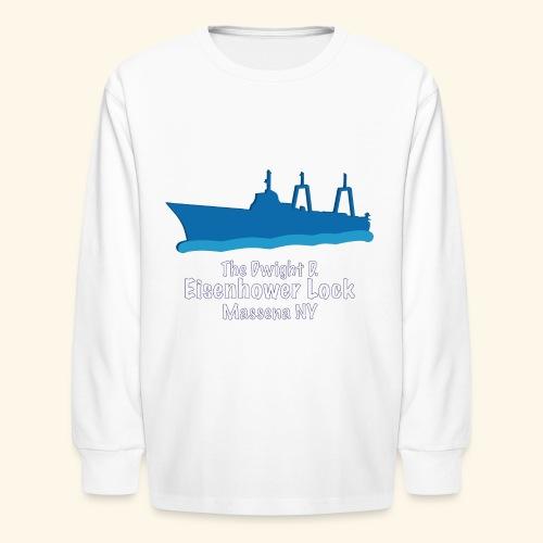 Eisenhower Lock Blue - Kids' Long Sleeve T-Shirt