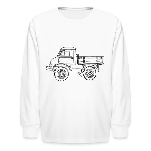 Off-road truck, transporter - Kids' Long Sleeve T-Shirt