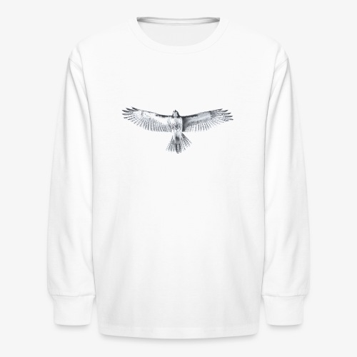 Red-Tailed Hawk - Kids' Long Sleeve T-Shirt