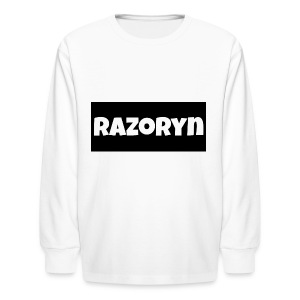 Razoryn Plain Shirt - Kids' Long Sleeve T-Shirt