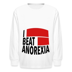 I Beat Anorexia - Kids' Long Sleeve T-Shirt