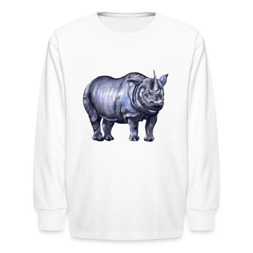 One horned rhino - Kids' Long Sleeve T-Shirt
