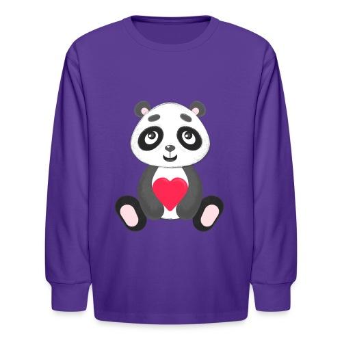 Sweetheart Panda - Kids' Long Sleeve T-Shirt