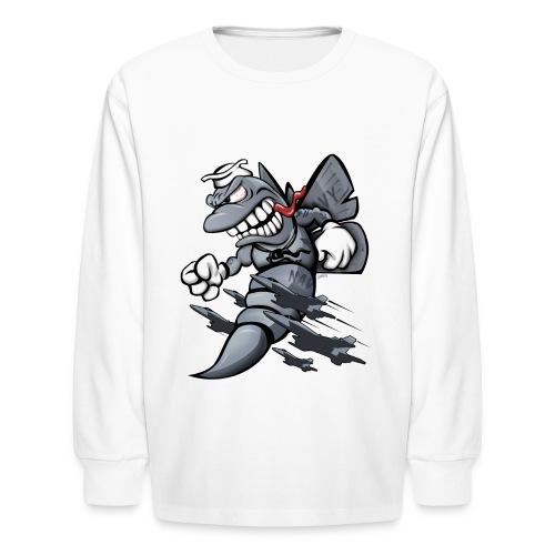 F/A-18 Hornet Fighter Attack Military Jet Cartoon - Kids' Long Sleeve T-Shirt