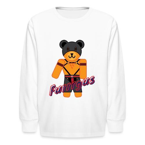 Leather Furrrgus - Kids' Long Sleeve T-Shirt