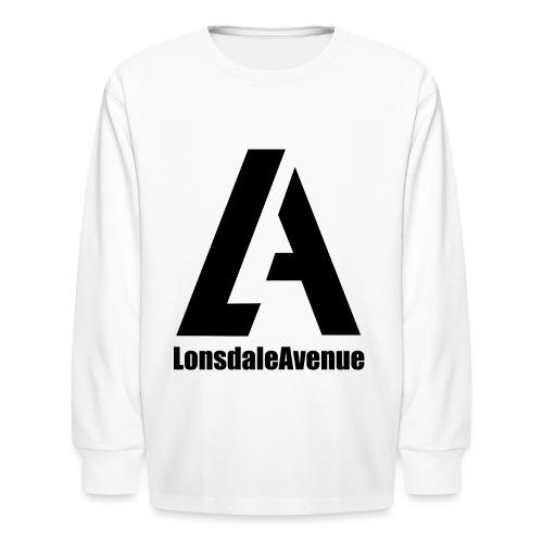 Lonsdale Avenue Logo Black Text - Kids' Long Sleeve T-Shirt