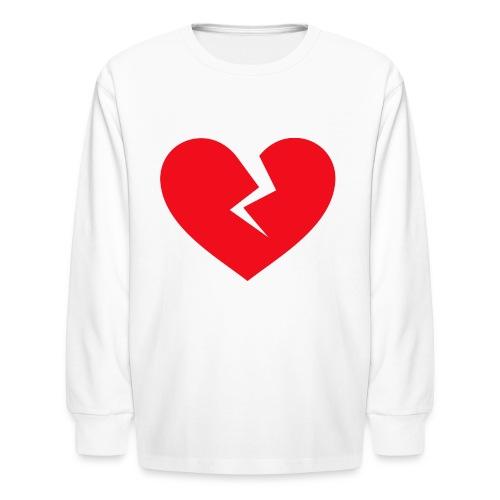 Broken Heart - Kids' Long Sleeve T-Shirt
