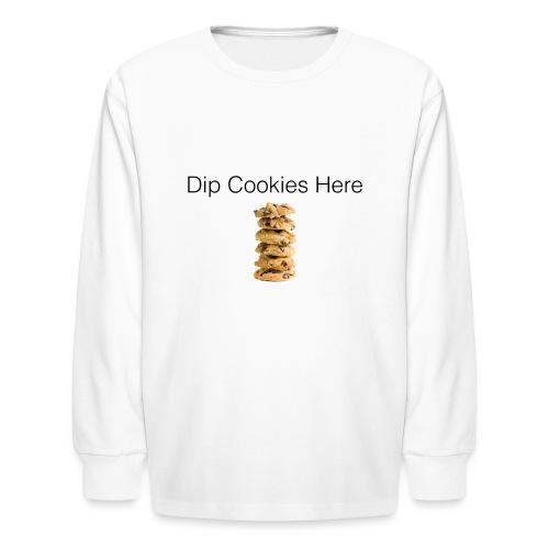 Dip Cookies Here mug - Kids' Long Sleeve T-Shirt