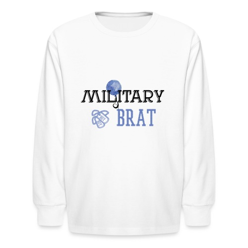 MilitaryBrat-Boy - Kids' Long Sleeve T-Shirt