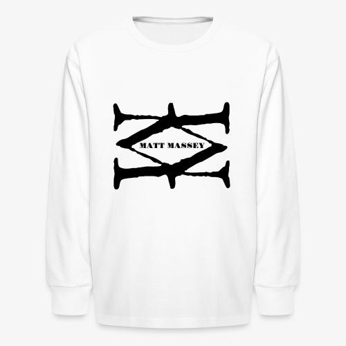 Matt Massey Logo Black - Kids' Long Sleeve T-Shirt