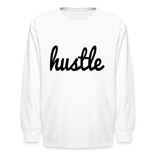 hustle vector - Kids' Long Sleeve T-Shirt