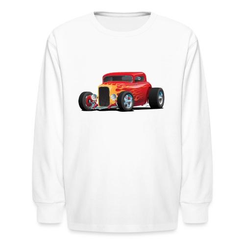 Classic Bold Red Custom Street Rod - Kids' Long Sleeve T-Shirt