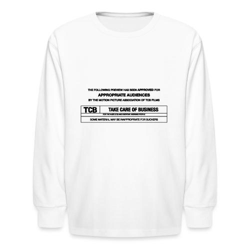 TCB Films Disclamer - Kids' Long Sleeve T-Shirt