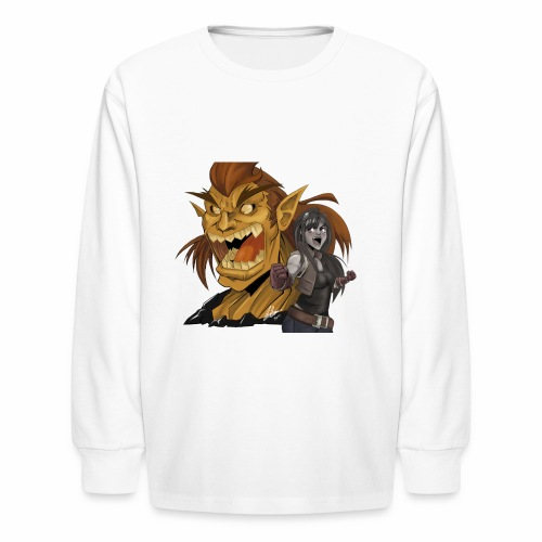 Fighter and the Demon - Kids' Long Sleeve T-Shirt