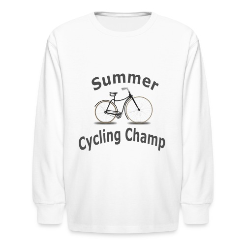 Summer Cycling Champ - Kids' Long Sleeve T-Shirt