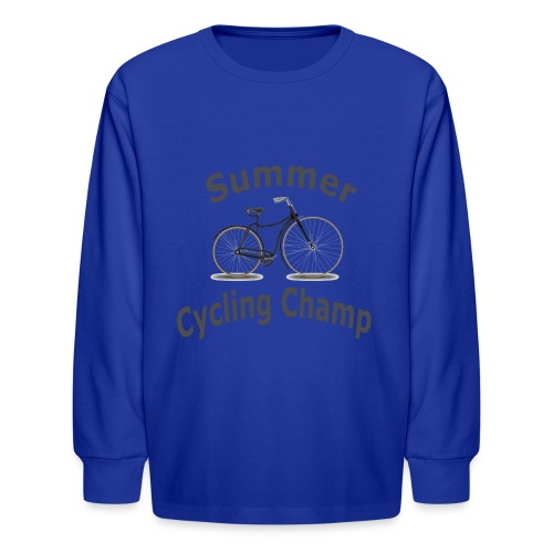 Summer Cycling Champ - Kids' Long Sleeve T-Shirt