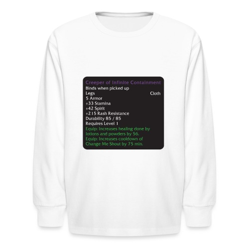 Warcraft Baby: Creeper of Infinite Containment - Kids' Long Sleeve T-Shirt