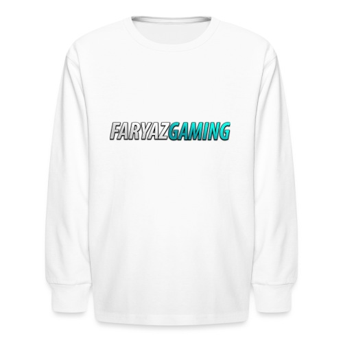 FaryazGaming Theme Text - Kids' Long Sleeve T-Shirt
