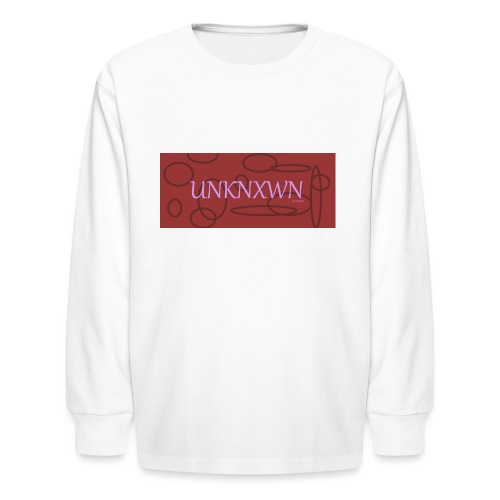 RED PINK UNKNXWN - Kids' Long Sleeve T-Shirt