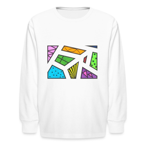 geometric artwork 1 - Kids' Long Sleeve T-Shirt
