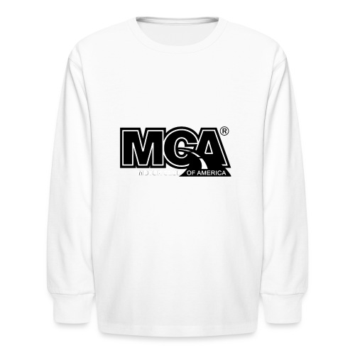 MCA Logo WBG Transparent BLACK TITLEfw fw png - Kids' Long Sleeve T-Shirt