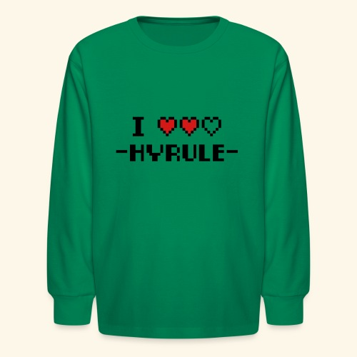 I Love Hyrule - Kids' Long Sleeve T-Shirt