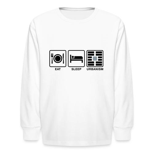Eat Sleep Urb big fork-LG - Kids' Long Sleeve T-Shirt