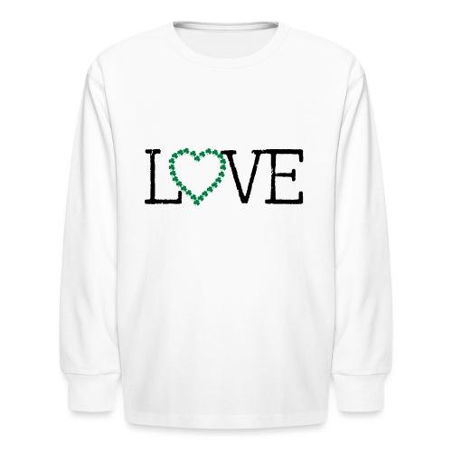 LOVE irish shamrocks - Kids' Long Sleeve T-Shirt