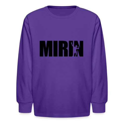 Zyzz Mirin Pose text - Kids' Long Sleeve T-Shirt