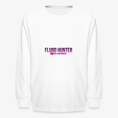 The Fluro Hunter Black And Purple Gradient - Kids' Long Sleeve T-Shirt