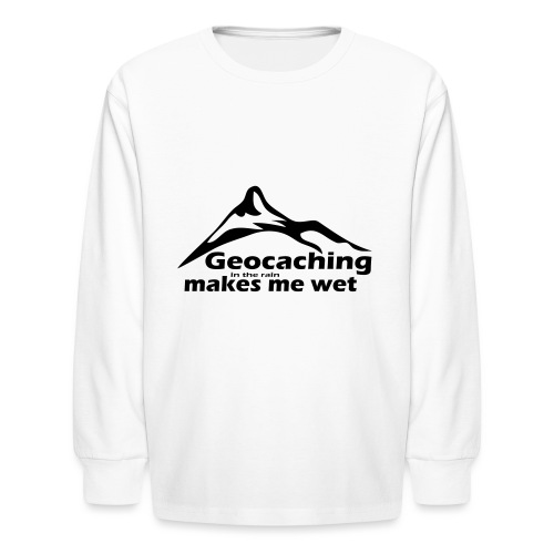 Wet Geocaching - Kids' Long Sleeve T-Shirt