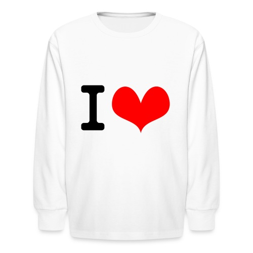 I Love what - Kids' Long Sleeve T-Shirt