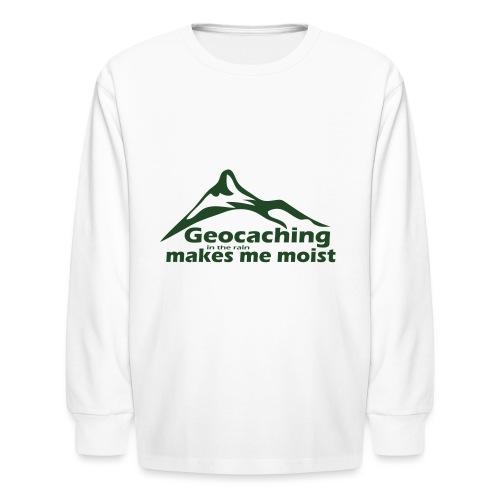 Geocaching in the Rain - Kids' Long Sleeve T-Shirt