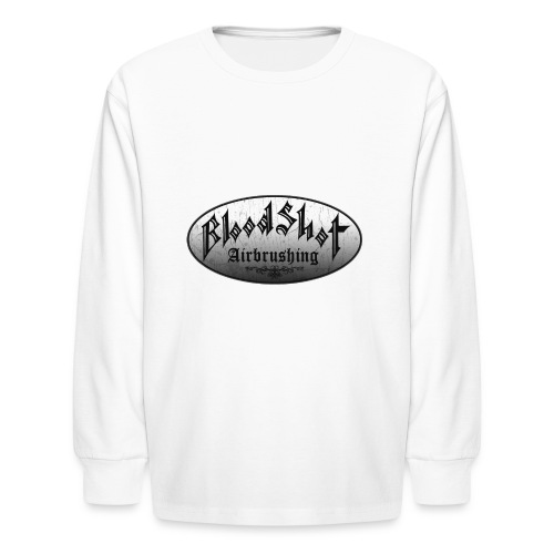 BloodShot Logo Black/White - Kids' Long Sleeve T-Shirt