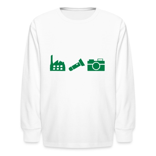 DCUE_Icons_Small - Kids' Long Sleeve T-Shirt