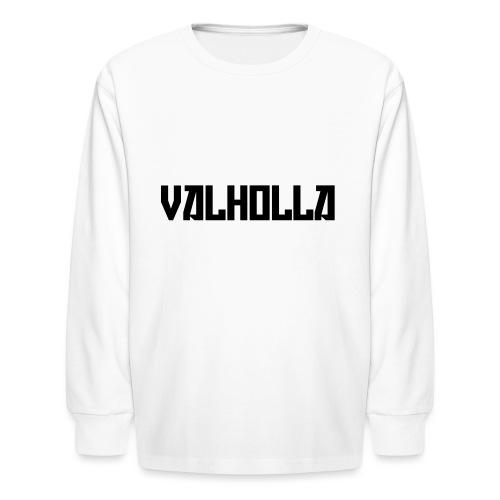 valholla futureprint - Kids' Long Sleeve T-Shirt