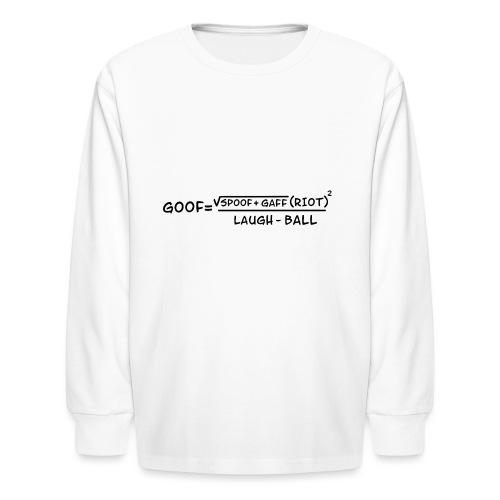 gaff text transparent - Kids' Long Sleeve T-Shirt