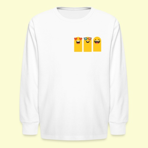 3 yellow stickers - Kids' Long Sleeve T-Shirt