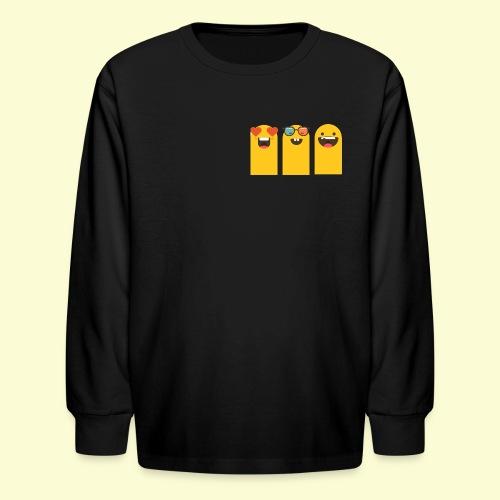 3 yellow stickers - Kids' Long Sleeve T-Shirt