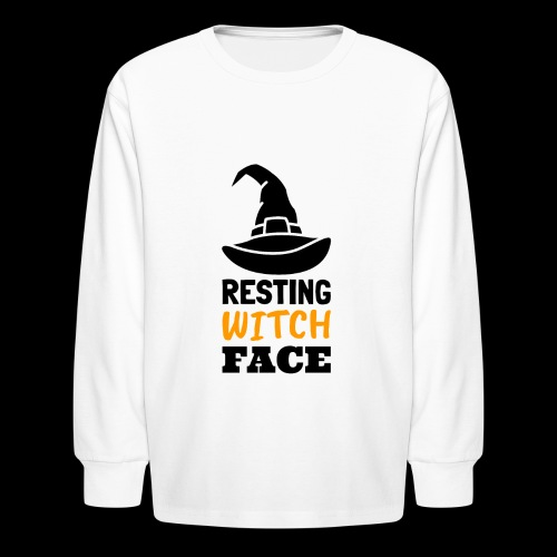Resting Witch Face | Funny Halloween - Kids' Long Sleeve T-Shirt