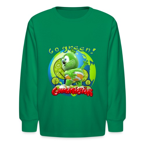Gummibär Go Green Earth Day Earth - Kids' Long Sleeve T-Shirt
