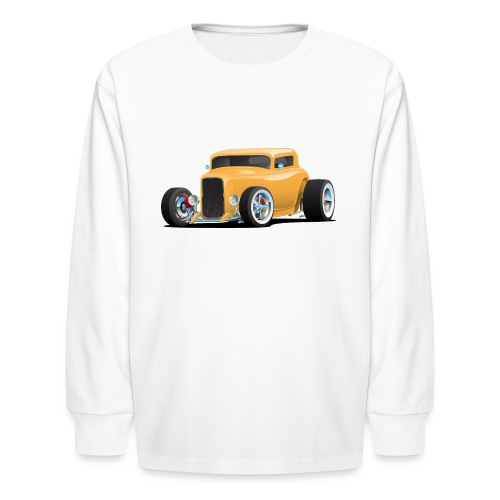 Classic American 32 Hotrod Car Illustration - Kids' Long Sleeve T-Shirt