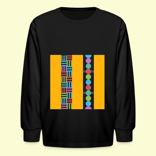 colourful and playful patterns - Kids' Long Sleeve T-Shirt