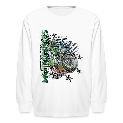 Kawasaki Dirt Bike Shirt - Kids' Long Sleeve T-Shirt