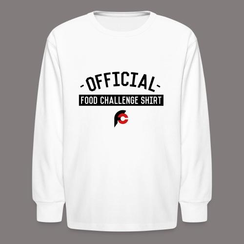 Official Food Challenge Shirt 2 - Kids' Long Sleeve T-Shirt
