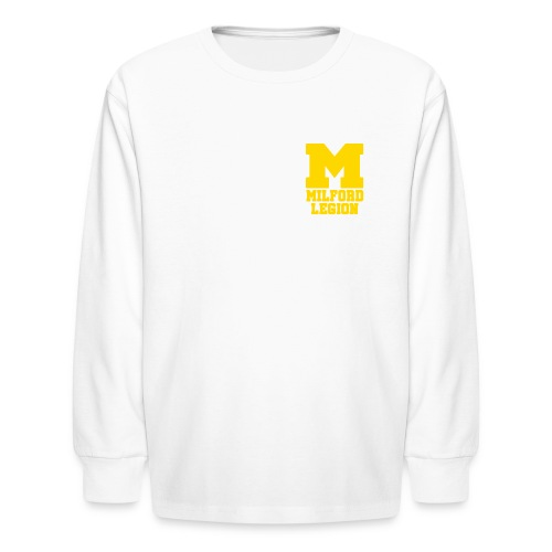 Milford-Legion Logo - Kids' Long Sleeve T-Shirt