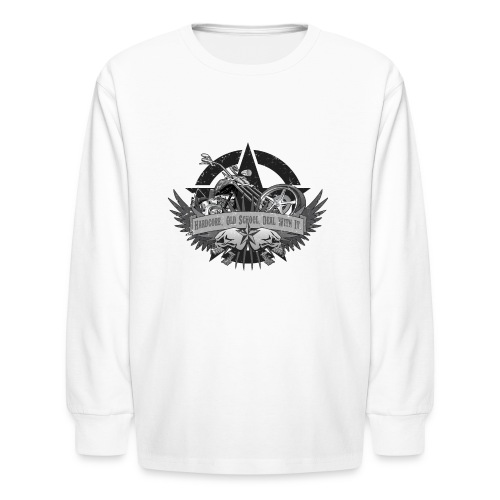 Hardcore. Old School. Deal With It. - Kids' Long Sleeve T-Shirt