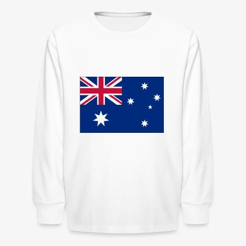 Bradys Auzzie prints - Kids' Long Sleeve T-Shirt